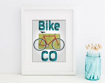 Printable Bike CO Poster- Instant Download