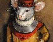 """Mouse art - """"Samuel the Brave"""" - ACEO LE"""