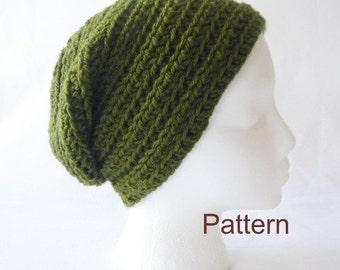 PDF Pattern Crocheted Over the Ridge Slouchy Hat for Men or Women
