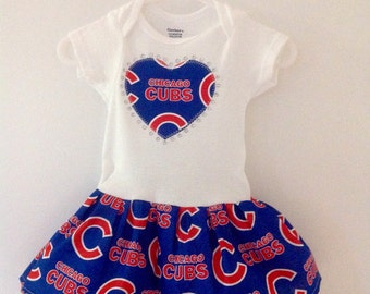 Chicago Cubs Inspired Dress