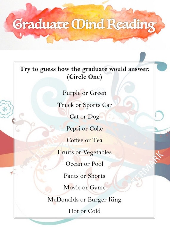 Crush image with free printable graduation party games