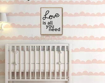 Wall Stripes Baby Nursery Decal. Wall Stripes Decal with Wallpaper effect. Stripe Wall Decal for home or office - AP0025
