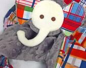Gray Baby Security Blanket, Lovey, Baby Blanket, Stuffed Animal, Plush Toy, Teething Toy, Sensory Blanket, Baby Boy, Toddler Boy, Photo Prop