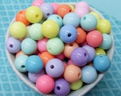 50x 12mm Resin Pastel color Globe beads .. Candy Fun