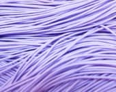 24 metre Bundle of 1mm Coloured Elastic Cord in Lilac Purple