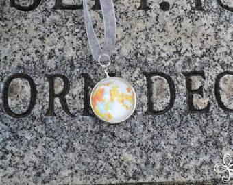 Eurydice (December) Moon Pendant Necklace