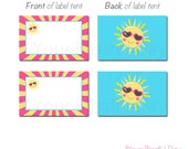 PRINTABLE Our Little Sunshine Label Tents #590