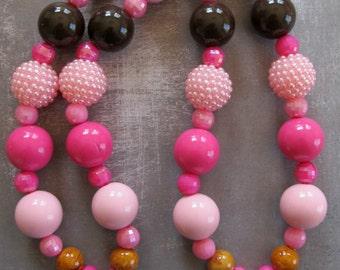 BFF necklace, BFF's, best friends forever, best friend gift, best friend jewelry, chunky bubblegum necklace, BFF's necklace bff charm