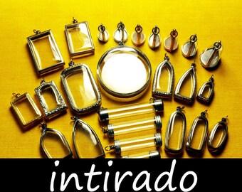 Terrarium Necklace, Japanese Moss Ball, Terrarium Kit, Empty Lockets, Shadow Boxes, Vials, Domes, Reliquary, Art and Craft Supplies, 25pcs