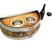"""TØNDE - """"Demitasse"""" - Wine Barrel Dog Bowl - 100% recycled"""
