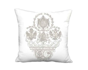Pillow Cover - Pillow - Exposition Nantes Linen Cotton French Country Farmhouse Cushion Cover - 16x 18x 20x 22x 24x 26x 28x 30x 32x Inch