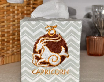 50% OFF!  Zodiac Signs Capricorn Tissue Box Cover