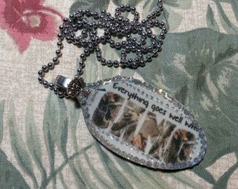 Camo, Everything goes well with Camo pendant, camoflage, spoon jewelry, Spoon pendant, Spoon art, Resin Jewelry, Spoon Necklace