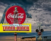 Vintage Sign for a Classic Train Diner in South Dakota with the South Dakota Central Railway No.0172 Color Fine Art Landscape Photography