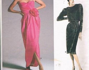 Vintage Vogue Bellville Sassoon Pattern 1700 - Misses' Evening Jacket & Dress, 1986