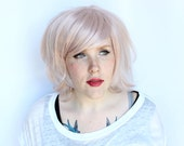 SALE Pastel wig. straight pink wig. pink scene wig. summer hair wig - rose chiffon