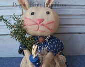 Primitive 4th of July Bunny, Primitive Americana Rabbit, MADE TO ORDER