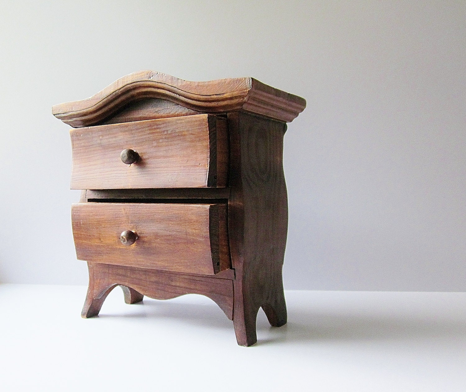 Mini Chest Of Drawers ~ Vintage mini dresser small wooden chest of drawers tiny
