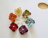 Crayon Pack, set of 6 hydrangea hair clips