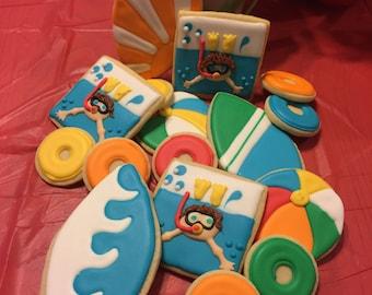 2 dozen pool party cookies