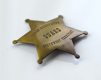 Vintage Brass Star Indian Reservation Southwest Territory Guard