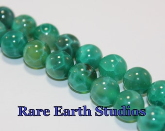 Green Fire Agate Beads 10mm 60315103