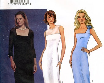 Butterick 3343 Misses' Evening Dress Sewing Pattern - Uncut - Size 6, 8, 10
