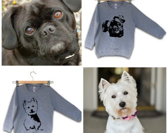 Personalized Kids Sweatshirt, Baby Sweater With Dog, Personalised Kids Clothes, Children Clothes, Clothes With Dogs, Custom Kids Sweater