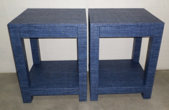 Custom Built Grasscloth End Tables / Nightstands - Design Your Own to Suit Your Space