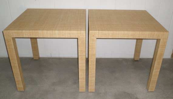 Custom Built Grasscloth Side/End Tables - Customize Your Own To Suit Your Space