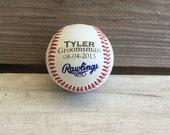 Personalized engraved baseball wedding boy groomsmen ring bearer sports groom man gift