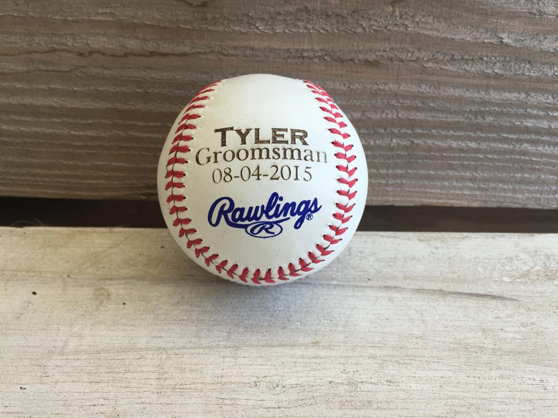 Baseball Wedding Gifts: Personalized Gift: Engraved Baseball Wedding Fathers Day
