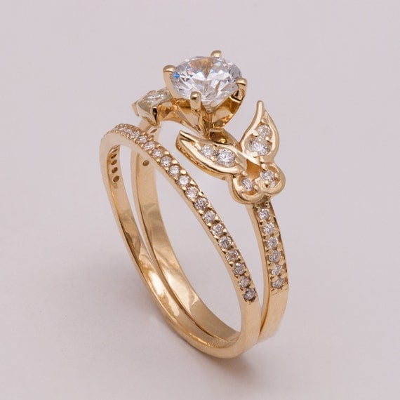 like this item - Butterfly Wedding Rings