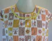 Holland Squares Dutch Novelty Print Smock Top