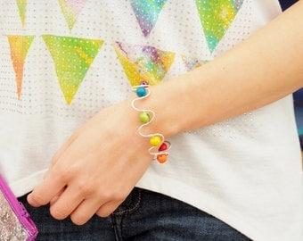 Rainbow pride bracelet- acai bracelet