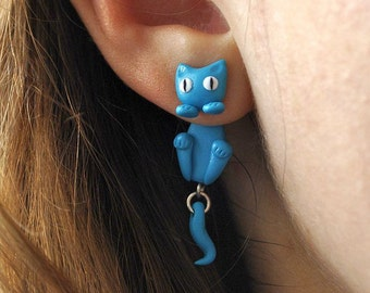 Turquoise Cat Earrings