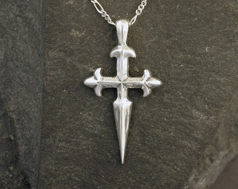 Sterling Silver Sword/Cross Pendant on a Sterling Silver Chain.