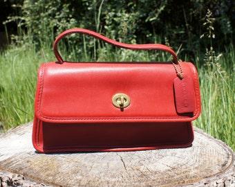 Coach Purse, Red, Convertible Handbag, Crossbody Bag