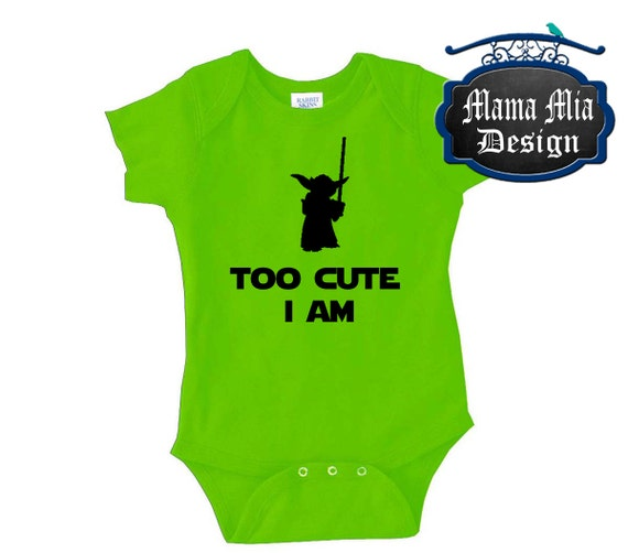 8a6c04a8f Baby Yoda Costume Newborn Baby Photo Props Star Wars Cute Cute Yoda: Disney  Onesie Too Cute I Am Yoda Shirt Star Wars By
