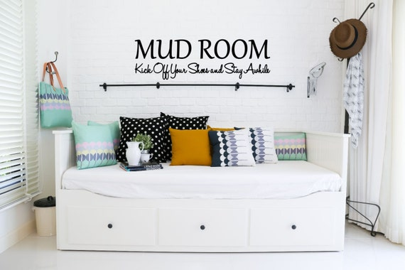 MUD ROOM Kick off Your Shoes and Stay Awhile Vinyl Decal