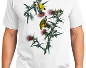 American Goldfinch Bird Retro Men & Ladies T-shirt - Gift for Bird Lovers and Ornithologist (idc033)