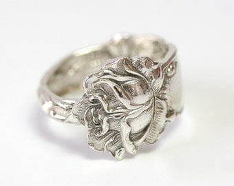 Antique Sterling Silver Ring - Bridal Rose, 1903