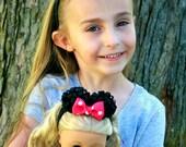 Minnie Mouse Ears Doll Headband