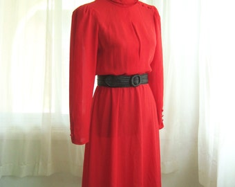 Scarlet Red Secretary Day Dress, by Jonathan Martin, Size Small