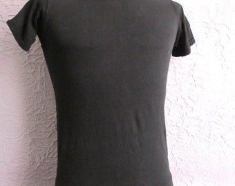 60's Vintage Deadstock Black T Shirt tight small