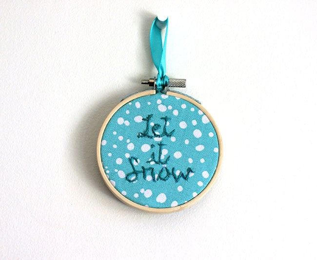 Christmas Ornament Embroidery Hoop By Creationzbycatherine