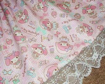 Sweet Lolita My Melody Pastel Princess Striped Babydoll Skirt - ANY SIZE