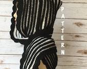 Crochet Pattern, Reversible Pixie Hooded Scarf Pattern, Crochet Scoodie Scarf PATTERN
