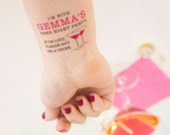 Hens Night Temporary Tattoos, If Lost, Buy Me a Drink Personalised Tattoo, Custom Tattoo, Party Favours, Hen Party, Hens Night Tattoo