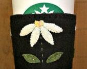 White Daisy Felt Cup Cozy